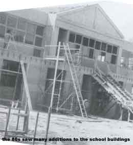 The 80s saw many new building additions to EHS