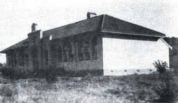 The original school building, 1928
